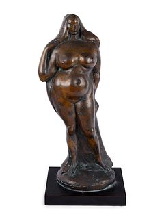 Gaston Lachaise(American/French, 1882-1935)Standing Nude Woman (Standing Woman with Right Hand Raised) [LF 28], model c. 1925/1926, cast February 19