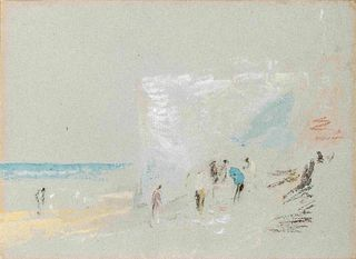 Joseph Mallord William Turner(British, 1775-1851)Figures on the Cliffs at Margate, c. 1840-45
