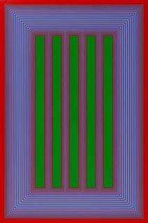 Richard Anuszkiewicz (American, 1930-2020) Temple of Permanent Green #710, 1983