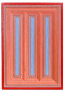 Richard Anuszkiewicz (American, 1930-2020) Temple of Deep Blue & Cadmium #767, 1985