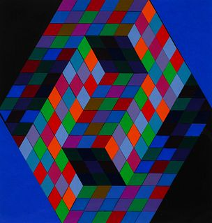 Victor Vasarely (French/Hungarian, 1906-1997) Untitled (22 color study for poster), c. 1970