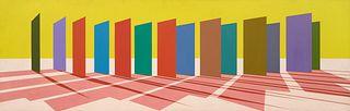 Ron Davis (American, b. 1937) Fourteen Panels, 1973