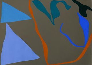 Ray Parker (American, 1922-1990) Untitled (Blue and Gray), 1974