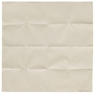 Sol LeWitt (American, 1928-2007) Fold Piece, Sixteen Squares, 1972