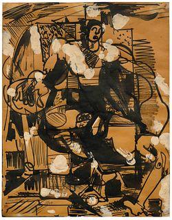 Hans Hofmann (American/German, 1880-1966) Untitled(Pair of Works), 1935