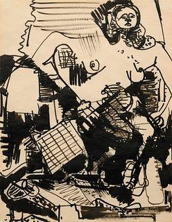 Hans Hofmann(German/American, 1880-1966)Untitled, c. 1944