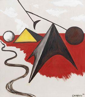 Alexander Calder(American, 1898-1976)Pyramidal Shapes, 1956
