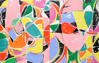 Beatrice Mandelman(American, 1912-1998)Garden #8 1/2-C, c. 1994