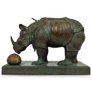 Salvador Dali (1904-1989) Rhinoceros Bronze