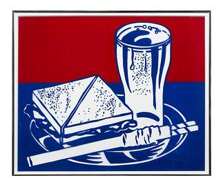 Roy Lichtenstein(American, 1923-1997)Sandwich & Soda (from Ten Works x Ten Painters), 1964