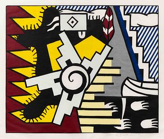 Roy Lichtenstein (American, 1923-1997) American Indian Theme II (from American Indian Theme Series), 1980