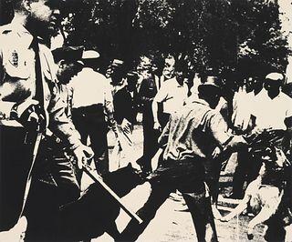 Andy Warhol(American, 1927-Birmingham Race Riot (from Ten Works x Ten Painters), 1964