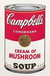 Andy Warhol (American, 1928-1987) Campbell's Soup I: Cream of Mushroom, 1968
