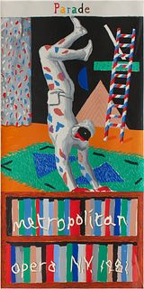 David Hockney (British, b. 1937) Parade (poster for the Metropolitan Opera, New York), 1981