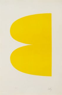 Ellsworth Kelly (American, 1923-2015) Yellow (Jaune), from Suite of Twenty-Seven Lithographs, 1964-1965