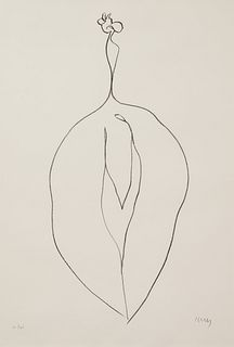 Ellsworth Kelly (American, 1923-2015) Seaweed (Algue) from Suite of Plant Lithographs, 1965-66
