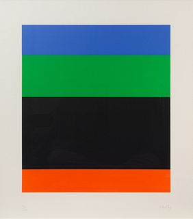 Ellsworth Kelly (American, 1923-2015) Blue Green over Black Red, 1971