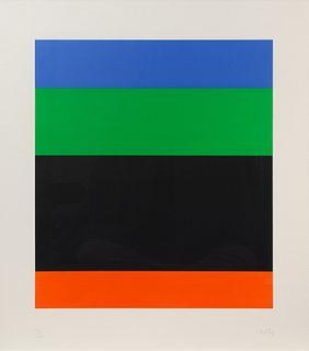 Ellsworth Kelly (American, 1923-2015) Blue Green over Black Red, 1971