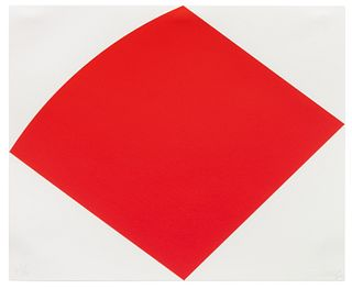 Ellsworth Kelly (American, 1923-2015) Untitled (Red Curve), 1996-1997
