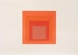 Josef Albers (American/German, 1888-1976) JHM-1, 1973