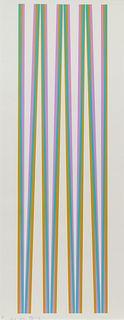 Bridget Riley (British, 1931-1984) Elongated Triangles 4, 1971