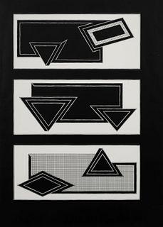 Frank Stella (American, b. 1936) Black Stack, 1970