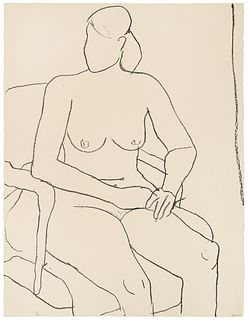 Richard Diebenkorn (American, 1922-1993) Seated Nude (from the Seated Woman series), 1965
