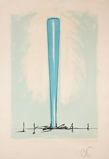 Claes Oldenburg (American, b. 1929) Bat Spinning at the Speed of Light, State IV, 1975