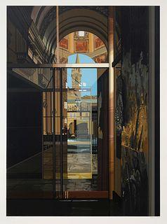 Richard Estes (American, b. 1932)  Salzburg Cathedral, 1983
