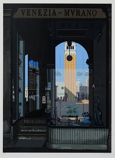 Richard Estes (American, b. 1932) Urban Landscapes No. 2 (complete portfolio of 8 prints with original cloth portfolio), 1979