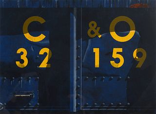 Robert Cottingham (American, b. 1935) C & O Railroad, 1989