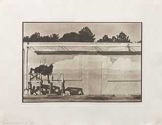 Robert Rauschenberg (American, 1926-2008) Plate from Photogravures Suite 1 (America Mix), 1983