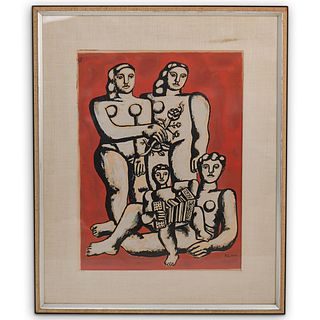 Fernand Leger (French, 1881 - 1955) Serigraph