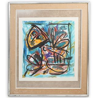 C.K. Appel (1921-2006) Abstract Figure Painting