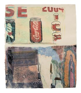 Robert Rauschenberg (American, 1925-2008) L.A. Uncovered #3, 1998