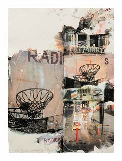 Robert Rauschenberg (American, 1925-2008) L.A. Uncovered # 8, 1998