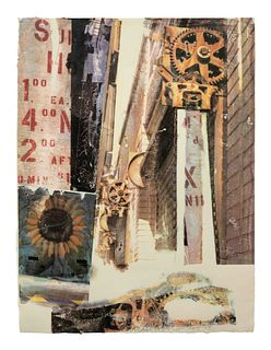 Robert Rauschenberg (American, 1925-2008) L.A. Uncovered #9, 1998