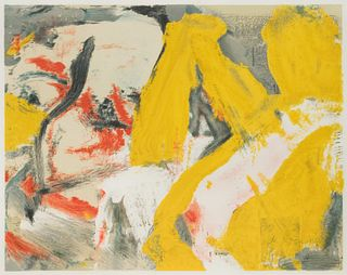 Willem de Kooning (American/Dutch, 1904-1997) The Man and the Big Blonde, 1982