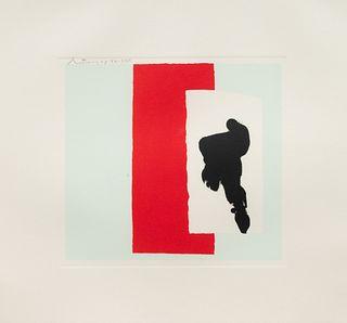 Robert Motherwell (American, 1915-1991) The Berggruen Series, (portfolio of four lithographs), 1980