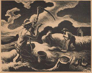 Thomas Hart Benton (American, 1889-1975) Island Hay, 1945