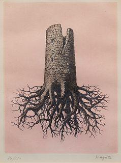 Rene Magritte (Belgian, 1898-1967) La Folie Almayer, (Plate III from Le Lien de Paille, by Louis Scutenaire), 1968
