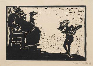 Emil Nolde (German, 1867-1956) Konig und Narr, 1906