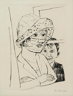 Max Beckmann (German, 1884-1950) Dame mit Knabe, 1923