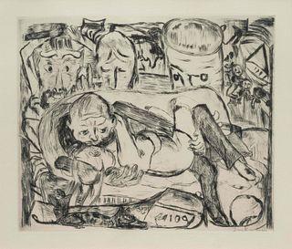 Max Beckmann (German, 1884-1950) Liebespaar II (Lovers II), 1918-1919