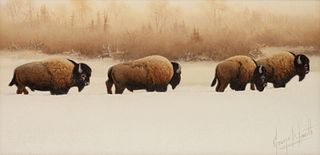 George Dee Smith (American, b. 1944) Buffalo River Bulls, 2000