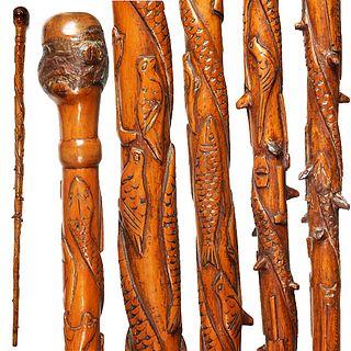 American Folk Art Cane