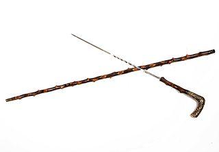 Gold Sword Cane