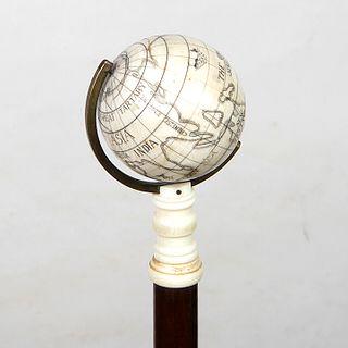 Bone Globe Cane