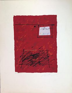 Manner of Robert Motherwell, Silkscreen, Pencil Signed