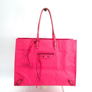 Balenciaga The Paper 236701 Women's Leather Tote Bag Pink BF338111